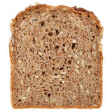 Slice of a whole wheat bread. Isolated on a white background Royalty Free Stock Photo