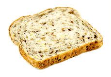 Slice of whole wheat multigrain toast Stock Photos