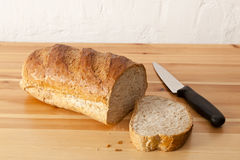 Slice Of  Wholemeal Loaf Stock Photography