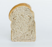 Slice of wholewheat bread isolated on white background Royalty Free Stock Image