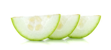 Slice winter melon isolated on the white background Stock Image