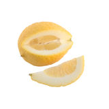 Slice and yellow lemon Royalty Free Stock Photo