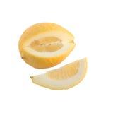 Slice and yellow lemon Royalty Free Stock Photo