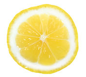 Slice of yellow lemon Royalty Free Stock Photography