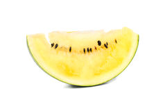 Slice yellow watermelon Stock Images