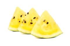 Slice yellow watermelon Royalty Free Stock Photos