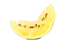 Slice yellow watermelon Royalty Free Stock Images