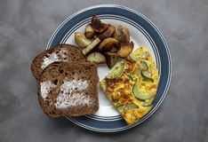 Zucchini Frittata Meal royalty free stock image