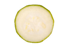 Slice zucchini isolated on a white background Stock Photo