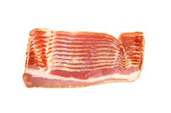 Sliced ​​bacon Stock Photo