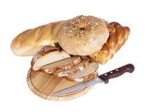 Sliced bread and bakery products. Stock Photography