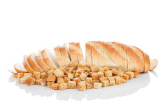 Sliced ��bread and crackers Royalty Free Stock Images