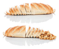 Sliced ��bread and crackers  Stock Images