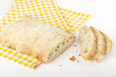 A sliced ​​ciabatta bread Royalty Free Stock Photos