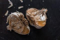 Sliced garlic Stock Photos