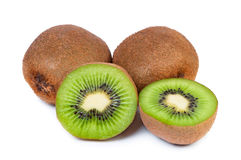 Sliced ​​kiwi fruit core is seen. Royalty Free Stock Photography