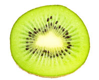 Sliced ��kiwi fruit on white background Royalty Free Stock Photo