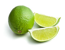 Sliced ​​lime Royalty Free Stock Photos