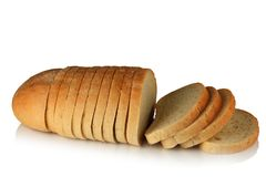 Sliced ​​loaf of bread. Royalty Free Stock Photos