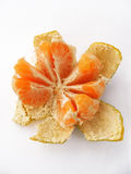 Sliced mandarin pictures for original designs Stock Photography