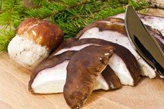 Sliced mushrooms Stock Photography