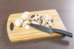 Sliced ��mushrooms Stock Photography