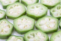 sliced okra Royalty Free Stock Images