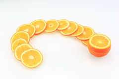Sliced ​​oranges Royalty Free Stock Photos