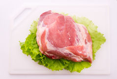 Sliced ��pieces of raw Meat for barbecue Stock Image