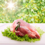 Sliced ��pieces of raw meat for barbecue Stock Images