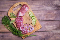 Sliced ��raw meat pork Royalty Free Stock Photos