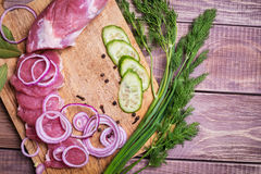 Sliced ��raw meat pork Stock Photography