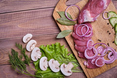Sliced ��raw meat pork Royalty Free Stock Images