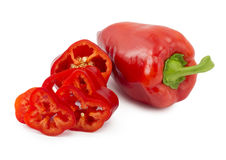 Sliced ​​red pepper Royalty Free Stock Image