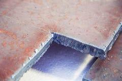 Sliced strip broom, scarf, steel, gas burner Stock Photo