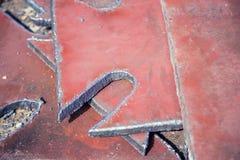 Sliced strip broom, scarf, steel, gas burner Royalty Free Stock Photos