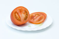 Sliced ​​tomato Stock Photos