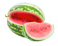 Sliced ​​watermelon. Sliced ​​juicy watermelon flavored vegetable Royalty Free Stock Image