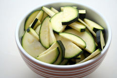 Sliced zucchinis Stock Image