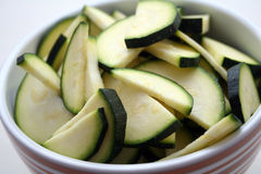 Sliced ​​zucchinis Stock Photos