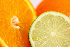 Sliced ​​lime and orange Royalty Free Stock Photo