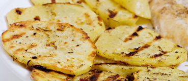 Sliced ​​potatoes Stock Image