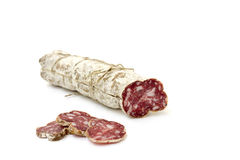Sliced ​​salami Stock Photo