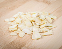 Sliced almonds Stock Image