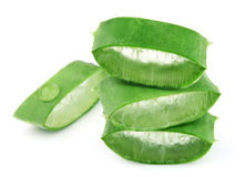Sliced aloe Stock Images