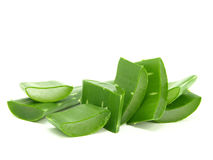 Sliced aloe leaves Stock Images