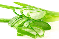 Sliced Aloe Vera. Royalty Free Stock Image