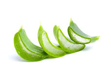 Sliced Aloe Vera fresh leaf Stock Photos
