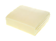 Sliced American white cheese Stock Photo