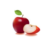Sliced apple Stock Photography
